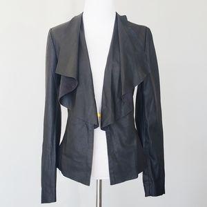 Zara Faux Leather Draped Jacket